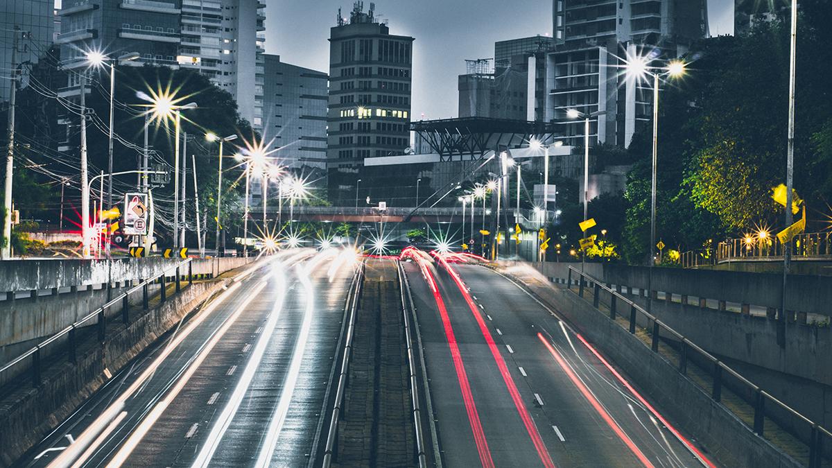 City Traffic Long Exposure